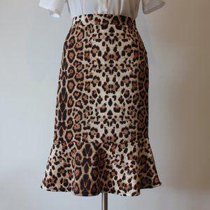 Faith and Joy Leopard Print Skirt.